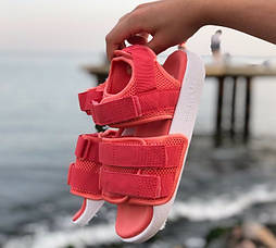 Женские сандалии Adidas Sandal летние босоножки коралловый. Живое фото. Сандалии 7 цветов!