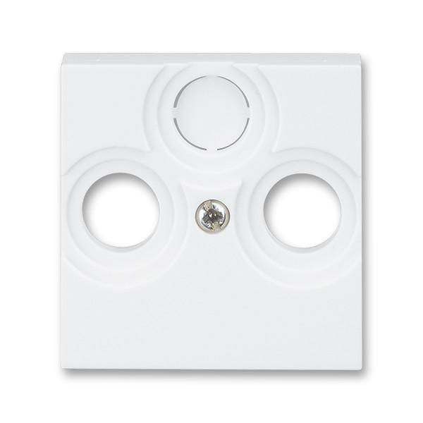 Розетка TV+R белый/ледяной белый, Levit Elektro-Praga ABB