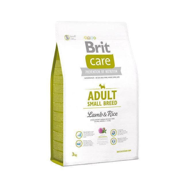 Сухой беззерновой корм Brit Care Adult Small для собак мелких пород с ягненком 7,5кг