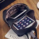 Сумка-рюкзак оригинальной формы Черно-белый, фото 2