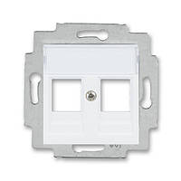 Розетка HDMI+USB белый/ледяной белый, Levit Elektro-Praga ABB