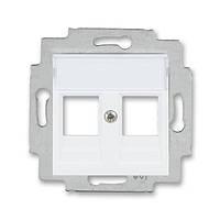Розетка HDMI+USB білий/крижаний білий, Levit Elektro-Praga ABB