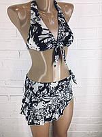 Женский купальник черно-белый  9666, фото 1