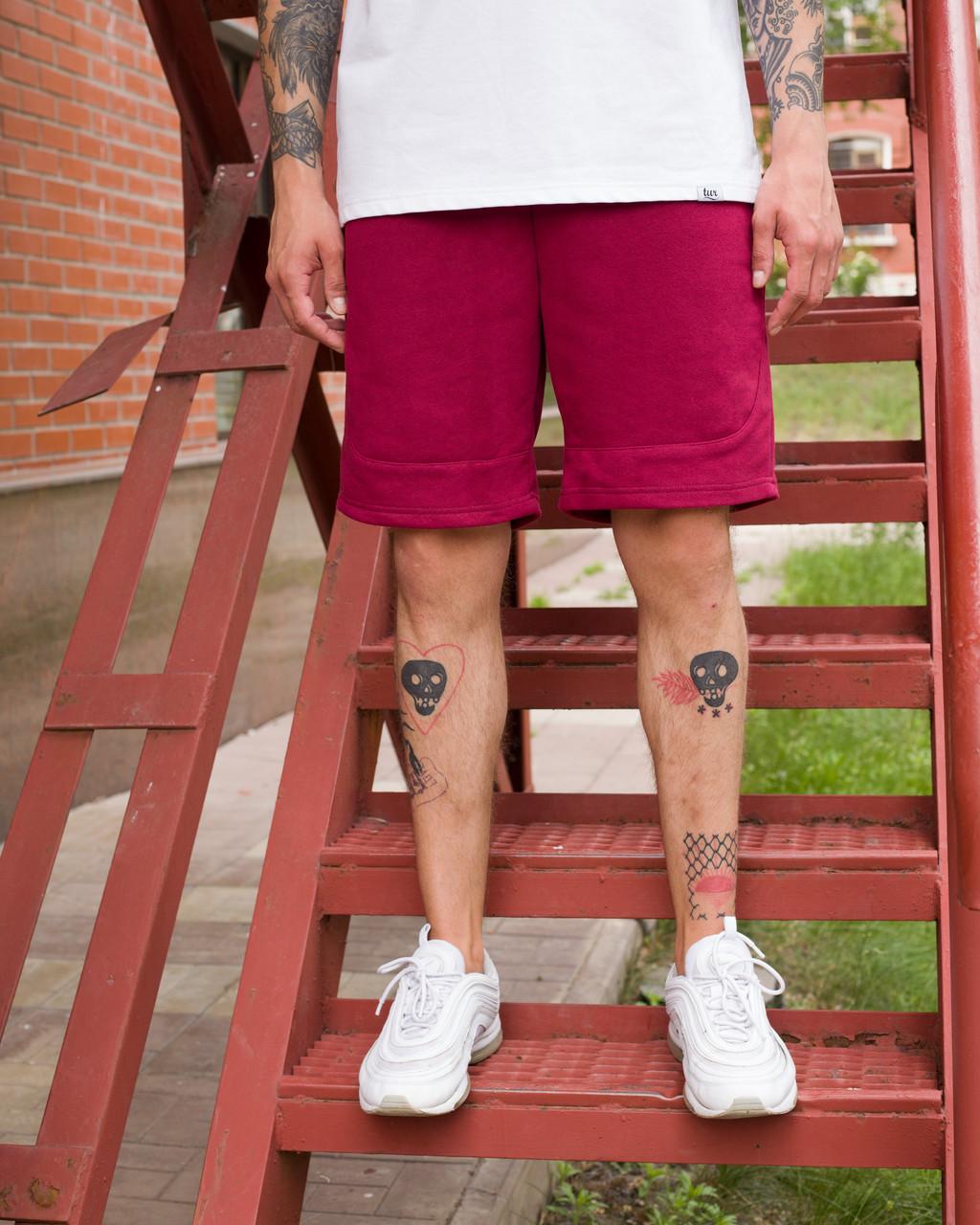 Шорты мужские бордового цвета от бренда ТУР модель Сем (Sam) размер S, M, L, XL