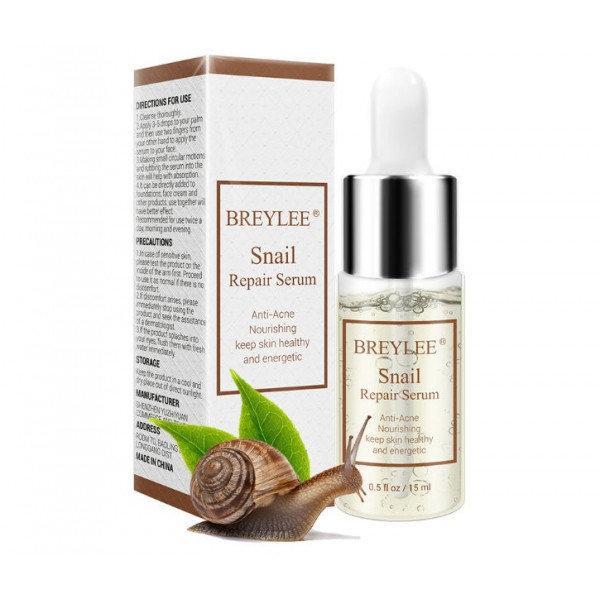 Питательная и восстанавливающая сыворотка BREYLEE Snail Serum  с муцином улитки и гиалуроновой кислотой 15 ml