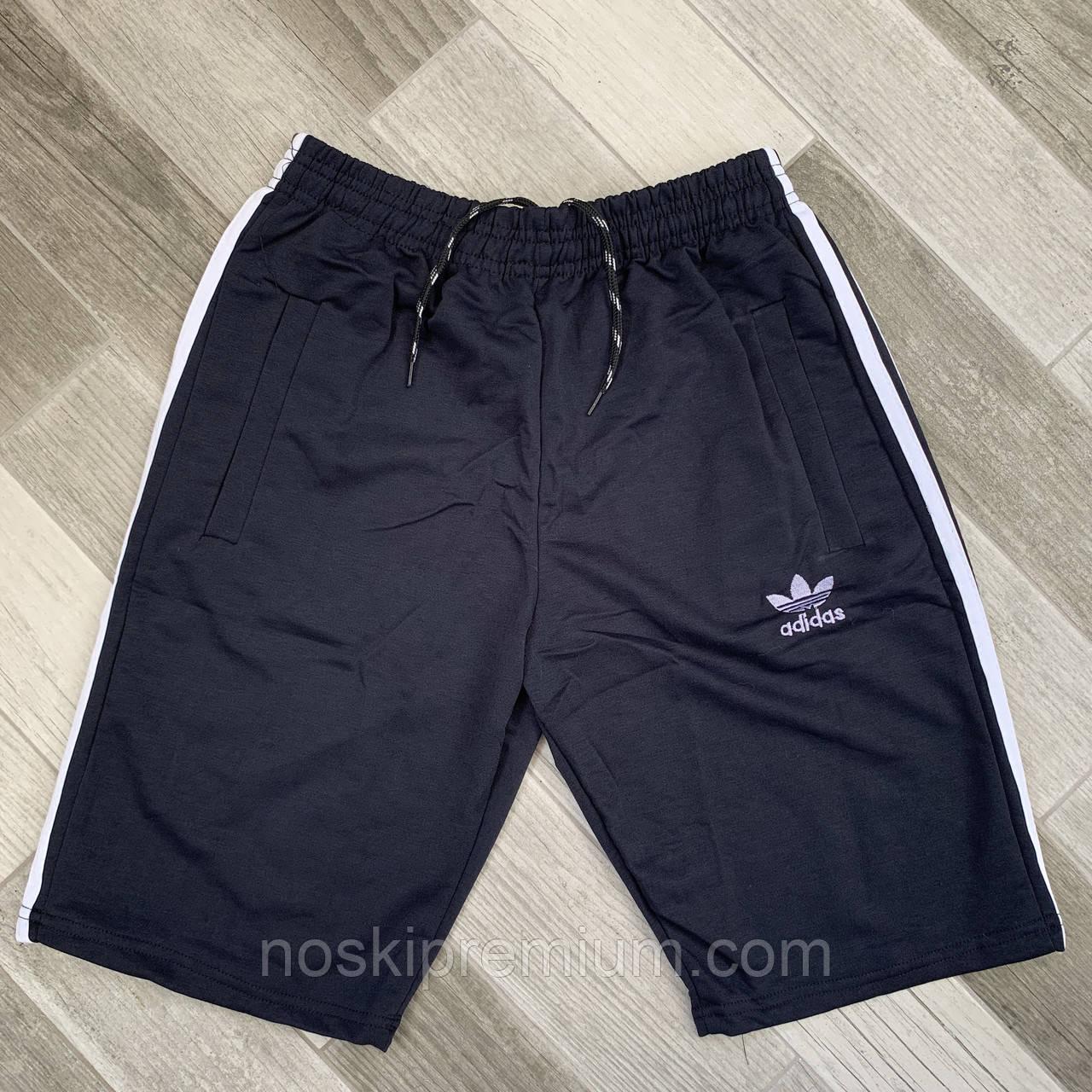 Шорты мужские хлопок Adidas, размеры 46-54, чёрные, 05617