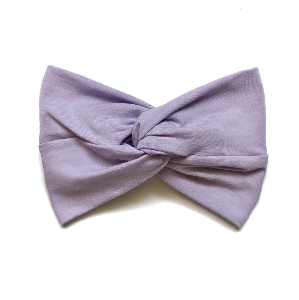 Повязка широкая для девочки 1-4 года Andriana Kids фиолетовая