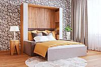 Спальный гарнитур с Шкаф-кроватью двухспальной, диваном и стеллажами