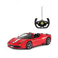 Машинка радиоуправляемая Rastar Ferrari 458  1:14 красная  47400