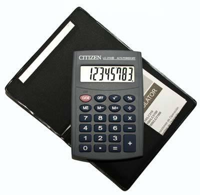 Портативный калькулятор CITIZEN 210, фото 2