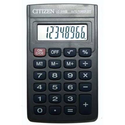 Портативный калькулятор CITIZEN 310, фото 2