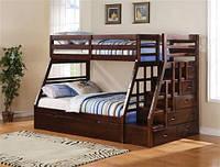 Деревянные двухэтажные кровати трансформеры