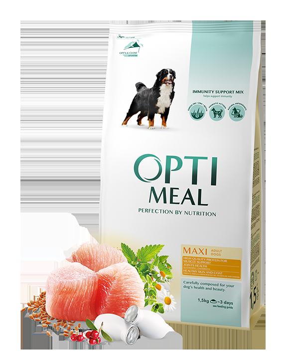 Optimeal Maxi Adult Dog 12 кг - корм для собак крупных пород с курицей