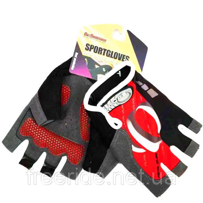 Вело перчатки беспалые Pearl Izumi (SPORT) красные