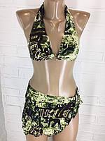 Женский купальник зеленый  9666