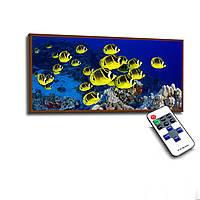 Лед картина Желтые рыбки 73х33см