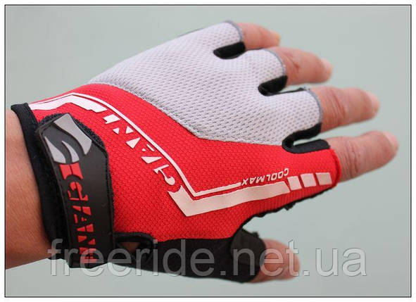 Велоперчатки беспалые GIANT (M) красные, фото 2