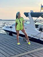 """Летний детский комбинезон-шорты для девочки """"MILANА"""" с карманами (2 цвета)"""