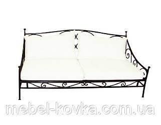 Металевий диван у вітальню 6 ( c м'яким сидінням)