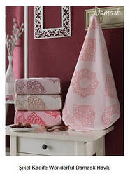 Набор полотенец для лица Kadife Wonderful Damask Havlu фирма Şıkel 4шт. (50*90см)