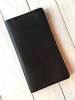 Портмоне ручной работы из натуральной кожи Goose™ Сlassic Zipper коричневый (тревел-кейс)