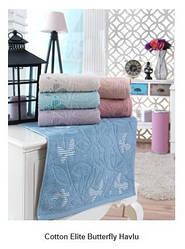 Набор полотенец для лица Cotton Elite Butterfly Havlu фирма Şıkel 6шт. (50*90см)