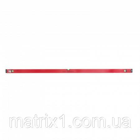 Уровень алюминиевый магнитный, 2000 мм, фрезерованный, 3 глазка (1 зеркальный), усиленный// MTX