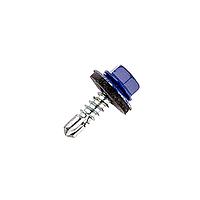 Саморез кровельный по металлу 4.8х19мм RAL5002 (синий), 250 шт