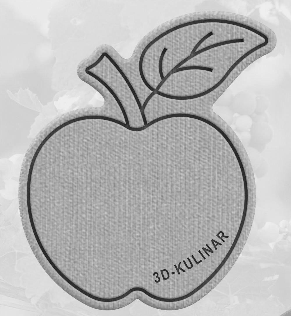 Формочка-вырубка для пряника + штамп Яблоко №2