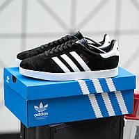 Мужские кроссовки Adidas Gazelle Black\Мужские кроссовки Адидас Газели\Adidas\Адідас