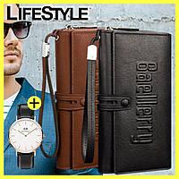 Мужское портмоне-клатч Baellerry Guero + часы Daniel Wellington в Подарок