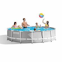 Каркасный круглый бассейн Intex 26702 Prism Frame 305х76 см для летнего отдыха