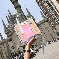 Женская летняя прозрачная сумка Jelli серебро, фото 1