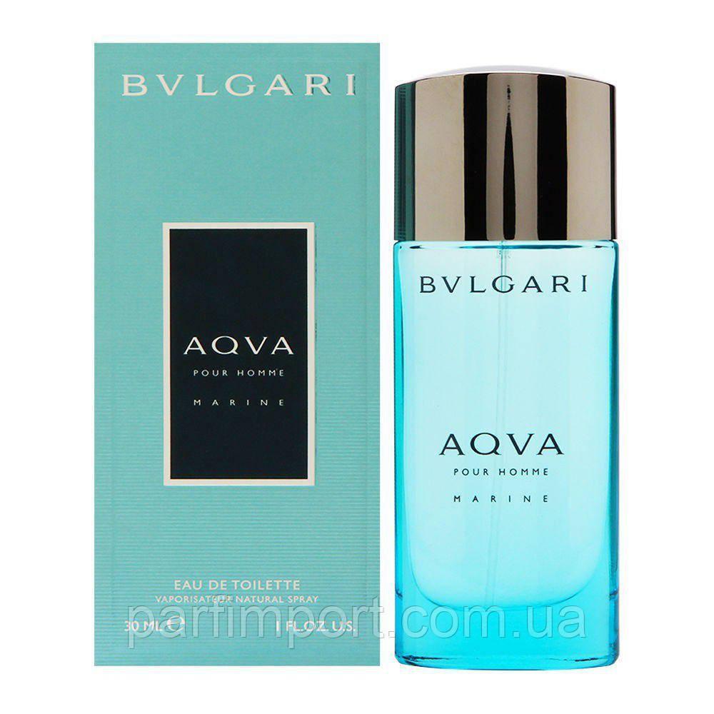 Bvlgari AQUA Marine edt 30 ml  туалетная вода мужская (оригинал подлинник  Италия)