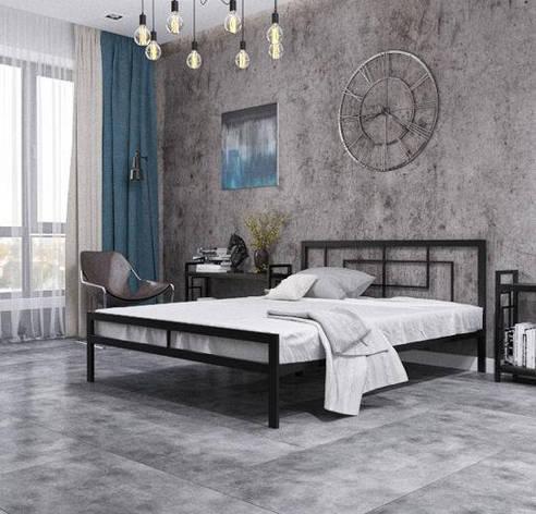 Кровать металлическая Квадро, фото 2
