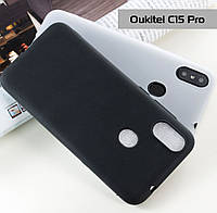 Защитный силиконовый чехол Soft-touch для Oukitel C15 Pro / Есть стекло/, фото 1