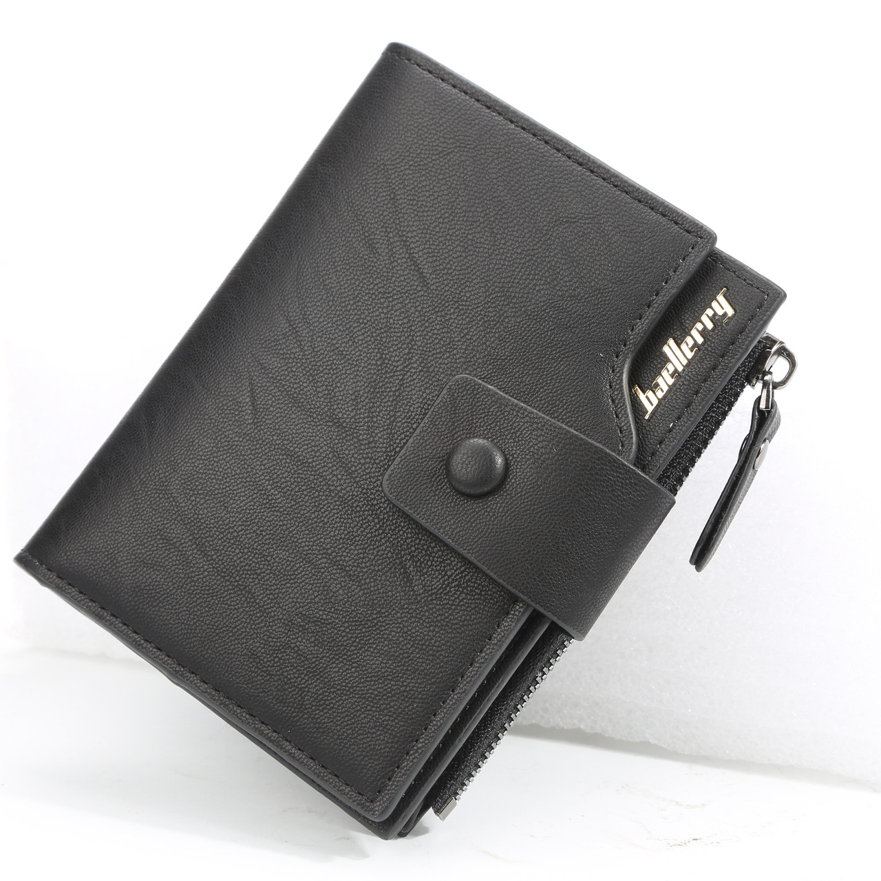 Чоловічий гаманець BAELLERRY Summer Fashion Style портмоне Чорний (SUN4643)