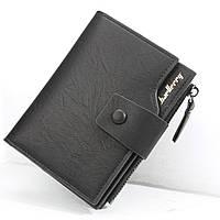 Чоловічий гаманець BAELLERRY Summer Fashion Style портмоне Чорний (SUN4643), фото 1
