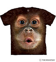 Детская футболка THE MOUNTAIN - Big Face Baby Orangutan