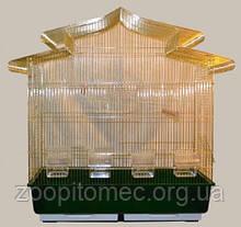 Велика універсальна золота клітка для птахів.83х43х84см