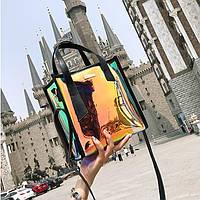 Женская летняя прозрачная сумка Jelli черная