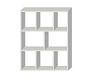 Полка-стеллаж навесная Белый премиум 1032х800х250мм