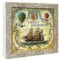 """Декупаж на полотні Морська подорож """"Велика подорож"""" 30*30 см, арт. 94620, ІДЕЙКА"""