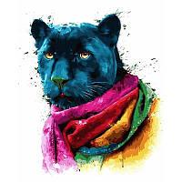 """Картина по номерам, картина-раскраска """"Пантера. Худ.Патрис Мурчиано""""  40Х50см VP751"""