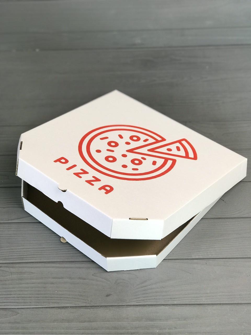 Коробка для пиццы c рисунком Pizza 300Х300Х30 мм (Красная печать)