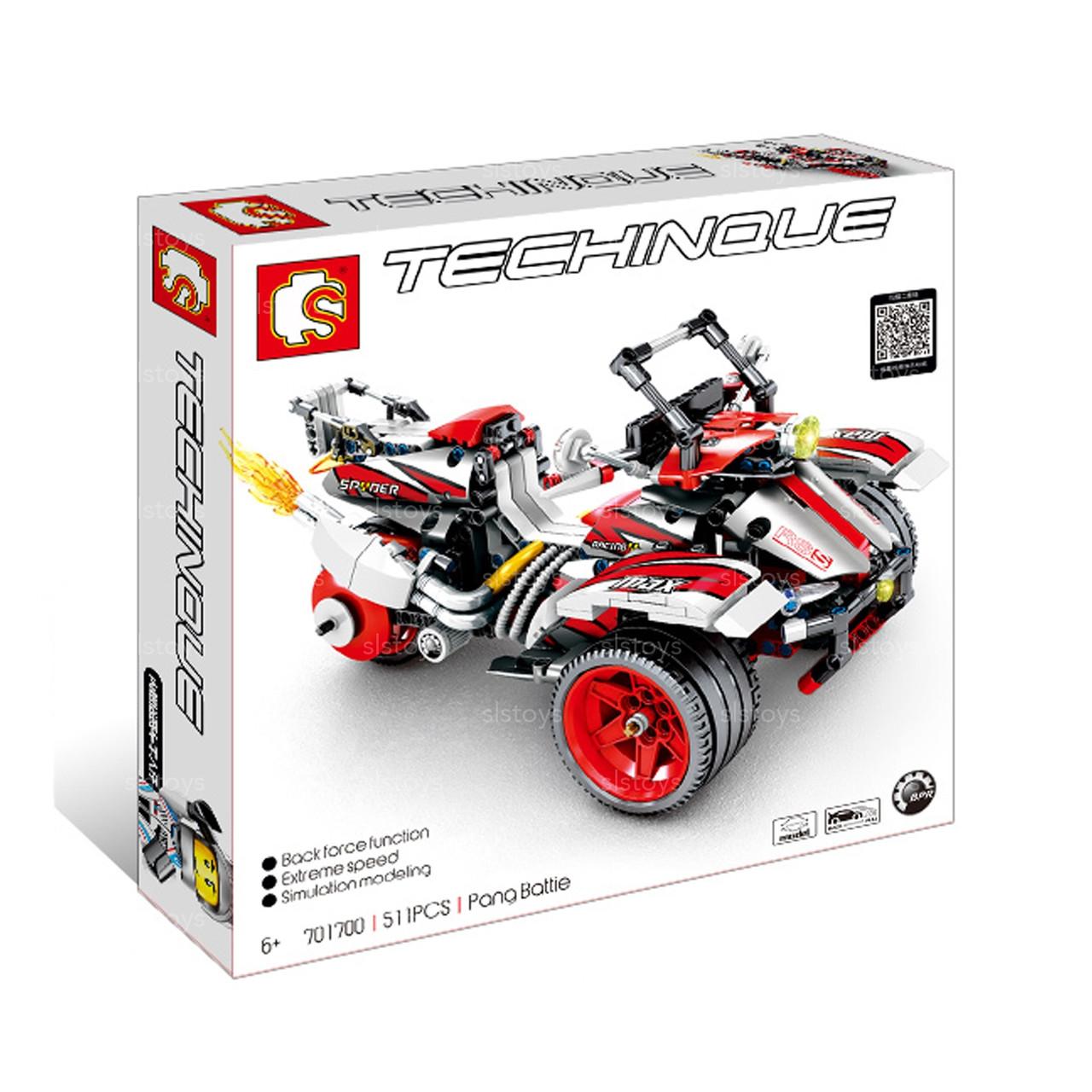 """Конструктор Sembo 701700 """"Трицикл"""" (аналог Lego Technic), 511 дет"""