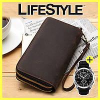 Кошелек портмоне Baellerry Classic leather + часы Daniel Wellington в Подарок