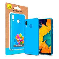Накладка для Samsung A205 Galaxy A20/A305 Galaxy A30 MakeFuture Skin Case Light Blue (MCK-SA205LB) (MCK-SA205LB)