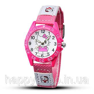 Детские наручные часы для девочки Hello Kitty (Ярко-розовые), фото 2