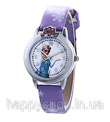 """Детские наручные часы для девочки """"Холодное сердце"""" (Сиреневые)"""